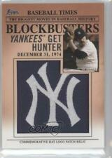 2012 Topps Update Series Blockbusters Hat Logo Patch #BP-17 Catfish Hunter Card