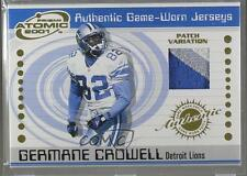 2001 Pacific Prism Atomic Authentic Game-Worn Jerseys Patch #122 Germane Crowell