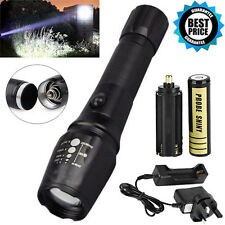 X800 T6 LED Zoom Flashlight Lumitact G700 Military Torch +18650 Battery +Charger