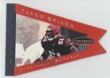 1998 Playoff Contenders Pennants Red #19 Takeo Spikes Cincinnati Bengals Card