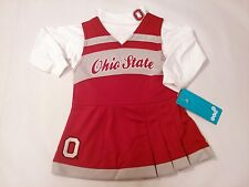 Ohio State Buckeyes Toddler OSU Cheerleader Outfit