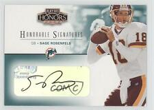 2002 Playoff Honors Honorable Signatures HS-17 Sage Rosenfels Auto Football Card
