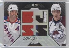 2008 Upper Deck UD Black Dual Player Jerseys #BDJ2-BJ Brendan Shanahan Joe Sakic