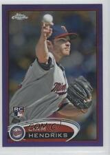 2012 Topps Chrome Retail Purple Refractor 154 Liam Hendriks Minnesota Twins Card