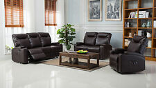 New Cinema Lazy Boy Bonded Leather Electric Recliner Sofa Suites Black / Brown