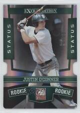 2010 Donruss Elite Extra Edition Status Emerald Die-Cut 109 Justin O'Conner Card