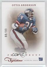 2011 Prime Signatures Proof Red 132 Ottis Anderson New York Giants Football Card