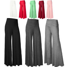 Autumn Women Fashion Dance Fold Down Wide Leg Comfy Casual High Waist Pants