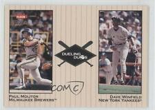 2002 Fleer Greats Dueling Duos #23DD Dave Winfield Paul Molitor New York Yankees