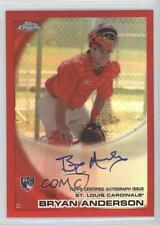 2010 Topps Chrome Rookie Autographs Red Refractor #172 Bryan Anderson Auto Card