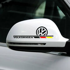 1 pair vinyl auto rear view mirror car sticker wing mirror decal emblem for VW