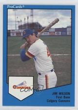 1989 ProCards Minor League #536 Jim Wilson Seattle Mariners Calgary Cannons Card
