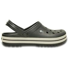 Crocs Crocband Clogs - Graphite / White - Croslite