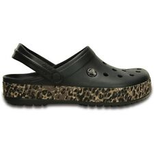 Crocs Crocband Leopard Clogs - Black - Croslite
