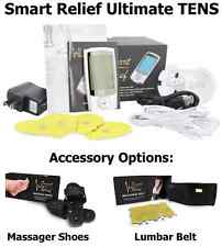 Smart Relief Ultimate TENS Unit Pain Relief Massager Shoes / Lumbar Belt Options