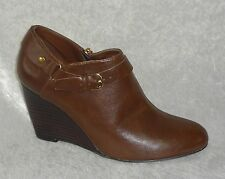 Call It Spring Womens Ankle Boots Flo wedge heel solid brown man made size 8 NEW