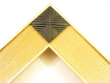 """1.8"""" Wide Gold Vogue Black Pyramid Picture Frame- Standard Custom Size"""
