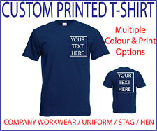 ~CUSTOM PRINTED T-Shirt~ , Personalised - Stag / Hen / Workwear / Event,