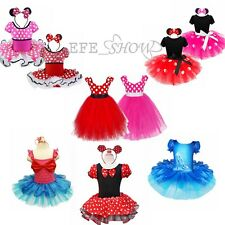New Kid Baby Girl Minnie Mouse Christmas Fairy Costume Fancy Party Dress Outfit