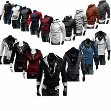 Mens Zipper Hoodie Jacket Coat Long Sleeves Jumper Sweater Sweatshirt Tee Tops