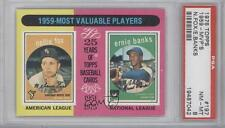 1975 Topps #197 1959 Most Valuable Players(Nellie Fox Ernie Banks) PSA 8 Nellie