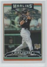 2006 Topps Chrome Refractor #315 Mike Jacobs Miami Marlins Baseball Card