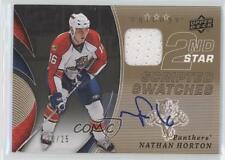 2008-09 Upper Deck Trilogy Scripted 2nd Star Swatches #2ND-NH Nathan Horton Auto
