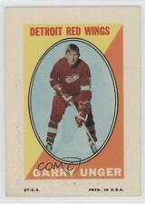 1970-71 Topps Sticker Stamps #GAUN Garry Unger Detroit Red Wings Hockey Card