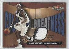 2003 Fleer Patchworks Courting Greatness Patch CG-JH Josh Howard Basketball Card