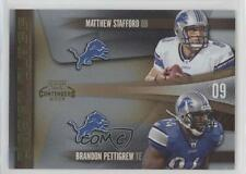 2009 Playoff Contenders Draft Class Gold #8 Brandon Pettigrew Matthew Stafford