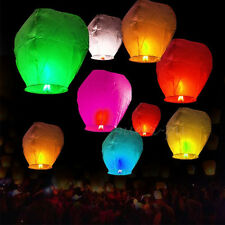 20/50Pcs Mix Color Paper Chinese Lanterns Sky Fly Candle Lamp for Wish Wedding