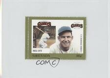 1988 Grenada Major League Baseball in Stamps US Series 1 #MEOT Mel Ott Card