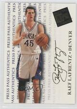 1998-99 Press Pass Authentics #3 Raef LaFrentz Kansas Jayhawks Basketball Card
