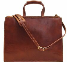Floto Imports Luggage Trastevere Attache Briefcase, Italian Calfskin Leather