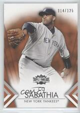 2012 Topps Triple Threads Amber #28 CC Sabathia New York Yankees Baseball Card