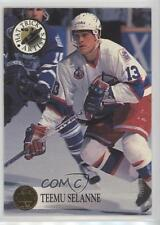 1993-94 Leaf Hat Trick Artists #3 Teemu Selanne Winnipeg Jets Hockey Card