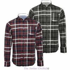 Brave Soul Mens Check Shirt Long Sleeve Flannel Brushed Cotton Casual Top