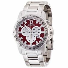 New Men's Invicta 0347 Speedway Chronograph Red Carbon Dial Swiss Made Watch