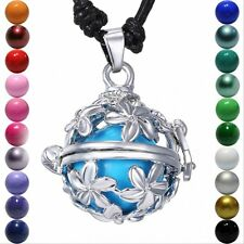 NEW Daisy Flowers Locket Pendant Harmony Ball Aromatherapy Angel Caller Necklace