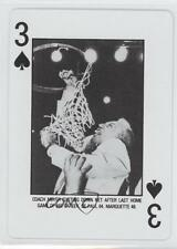 1984 3S Coach Meyer Cutting Down Net After Last Home DePaul Blue Demons Ray Card