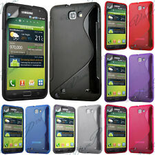 Case Cover TPU Silicone GEL S Wave Samsung Galaxy Note N7000 / i9220 + Film