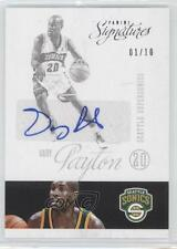 2012 Panini Signatures #185 Gary Payton Seattle Supersonics Auto Basketball Card