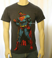 DC Comics SUPERMAN SUPER HERO MAN Of STEEL Word Puzzle Body TEE T Shirt MEN'S