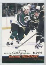 1999-00 Pacific Emerald Green 16 Teemu Selanne Anaheim Ducks (Mighty of Anaheim)