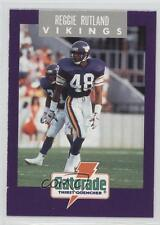 1991 Gatorade Minnesota Vikings #8 Reggie Rutland Football Card