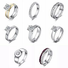 Stainless steel rings for women sequin fashion jewelry