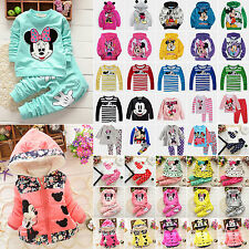 Cartoon Kids Baby Girls Boys Mickey Minnie Mouse Hoodie Coat Jacket Outwear Tops