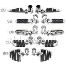 """Highway Engine Guard Crash Bar Mount Clamps Foot Pegs 1-1/4"""" Footrest For Harley"""