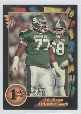 1991 Wild Card Draft #139 Eric Moten Michigan State Spartans Rookie Football