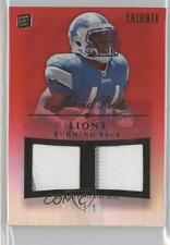 2010 Topps Tribute Dual Relics Red Rainbow DR-JBE Jahvid Best Detroit Lions Card